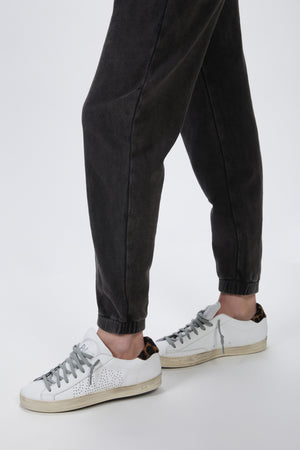 Load image into Gallery viewer, THE KOOPLES - FADED BLACK JOGGERS