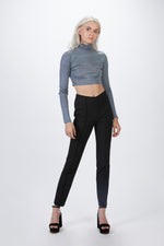 ZEYNEP ARCAY - CROP TURTLENECK KNIT TOP