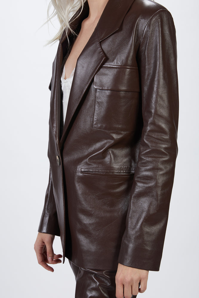 Load image into Gallery viewer, ZEYNEP ARCAY - SUIT LEATHER JACKET