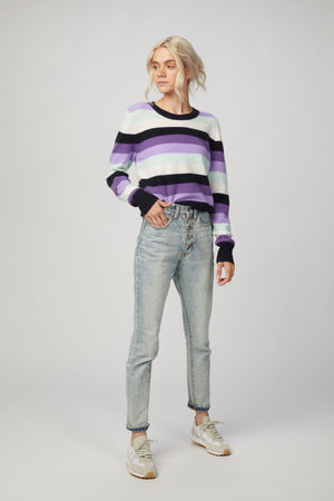 Load image into Gallery viewer, NAADAM - STRIPED CREW PULLOVER