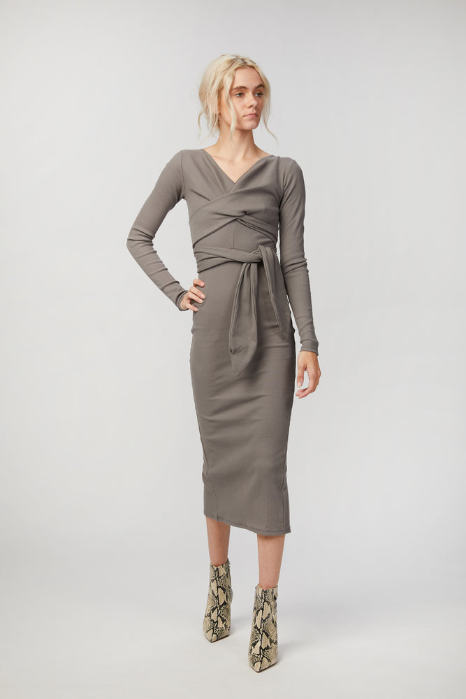 Load image into Gallery viewer, THE LINE BY K - SALOMA II WRAP DRESS