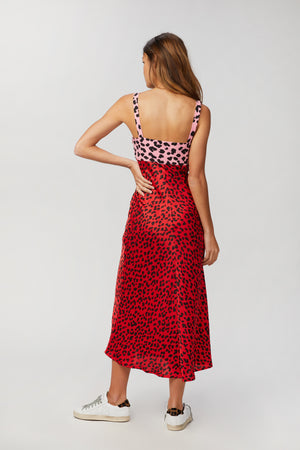 Load image into Gallery viewer, BY JOHNNY - SPLICE LEOPARD DRESS