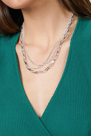 Load image into Gallery viewer, WARRANT TRIPLE CHAIN NECKLACE