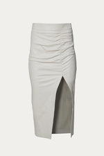 ZEYNEP ARCAY - RUCHED MINI SKIRT WITH SLIT - Off-White