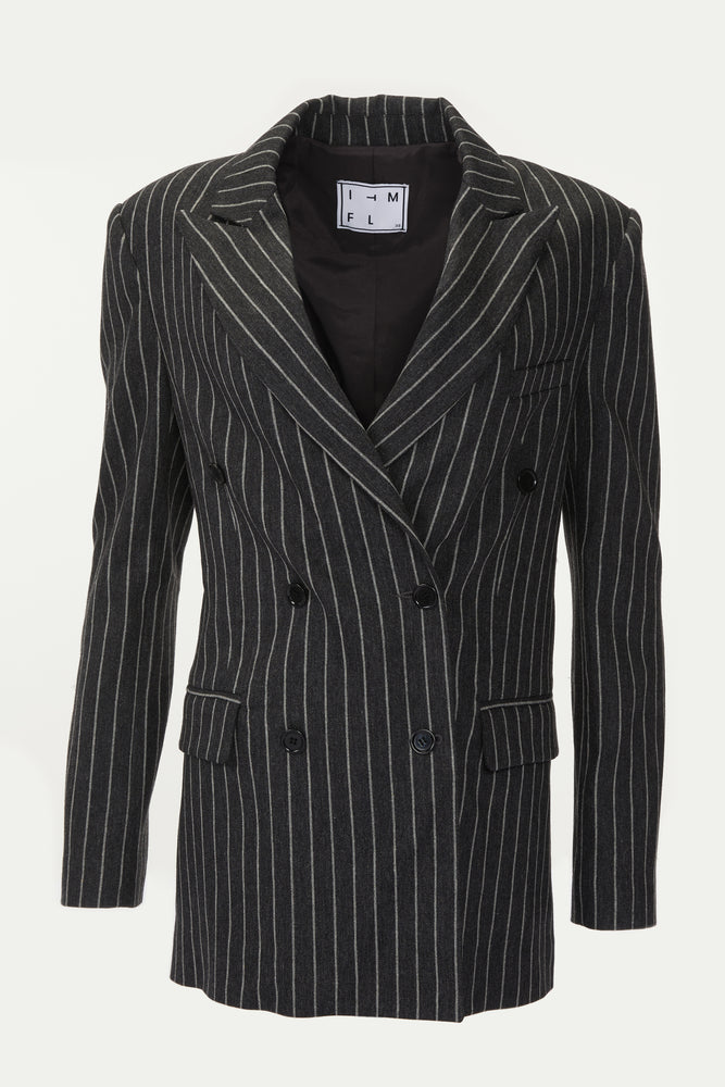 In The Mood For Love Bonnie Striped Jacket - Shop Women's Blazers