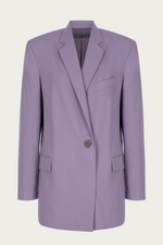 _GetTheLook, _related:lp-cutout-bodycon-dress, blazer, boyfriend jacket, Clothing, coat, jacket, Jackets & Coats, leightweight, lilac, matching, Matching Set, Matching Sets, Matching suit, matching suit blazer, New Arrivals, oversized blazer, oversized jacket, purple, single breasted, single button, single button closure, Special Events, Spring Separates, suit blazer, suit jacket, summer blazer, summer suit, wool, wool blazer, Zeynep  arcay