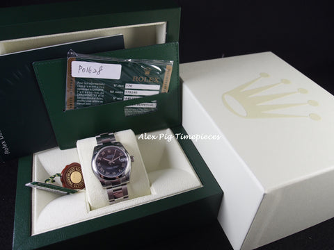 Rolex DATEJUST 178240 Boy Size with Black Roman Dial [NEW]