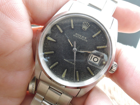 1967 Rolex OYSTER DATE 6694 Original Tropical Gilt Dial with Gold Markers