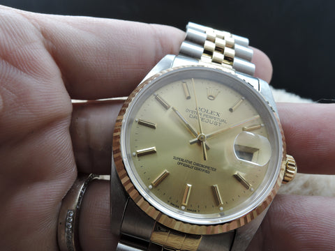 1991 Rolex DATEJUST 16233 2-Tone with ORIGINAL Gold Dial