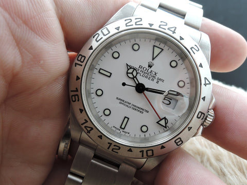 2000 Rolex EXPLORER 2 16570 White Dial Mint Condition