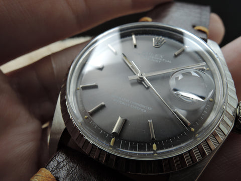 1970 Rolex DATEJUST 1603 SS ORIGINAL Dark Grey Dial