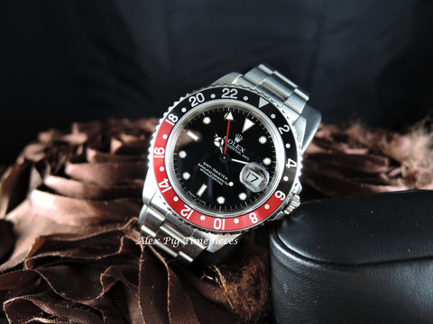 Rolex GMT MASTER 16700 Coke Red/Black Bezel with BOX and PAPER