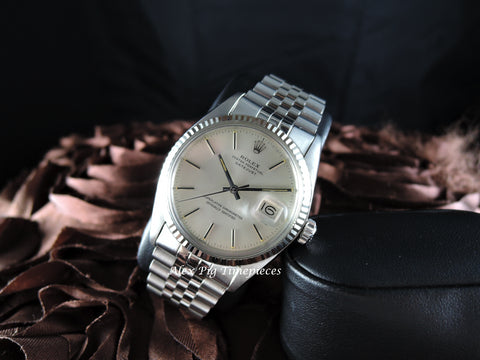 1978 Rolex DATEJUST 16014 Stainless Steel Original Silver Dial with Box & Paper