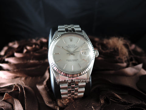 1978 Rolex DATEJUST 16014 Stainless Steel Original SIlver Dial