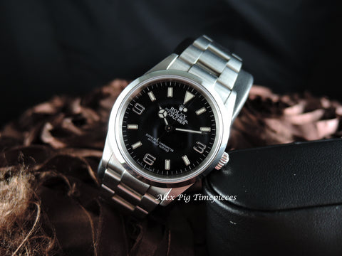 1997 Rolex EXPLORER 1 114270 Black Dial with BOX and Paper