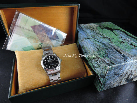Rolex EXPLORER 1 14270 Black Dial with Box and Paper