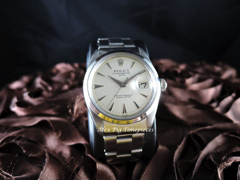 1950 Rolex OYSTER DATE 1500 Original Cream Dial with Arrowhead Markers and Dagger Hands