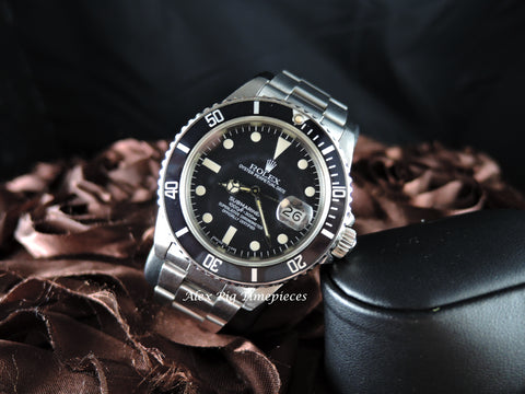 1983 Rolex SUBMARINER 16800 Matt Dial with Egg Shell Patina
