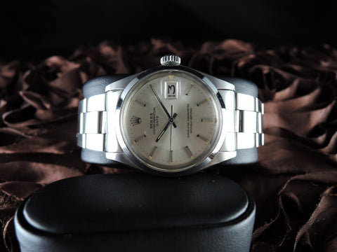1970 Rolex OYSTER DATE 1500 Original Silver Dial Mint Condition