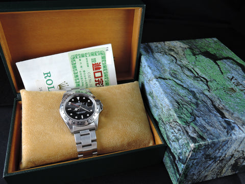 1997 Rolex EXPLORER 2 16570 Black Dial with Box and Paper