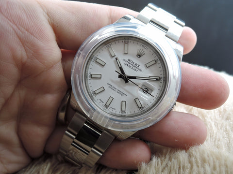 [NEW] Rolex DATEJUST 2 116300 with White Dial and Smooth Bezel Full Set
