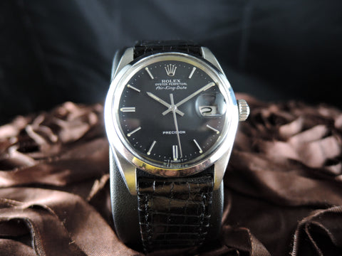 1961 Rolex AIR KING DATE 5700 Original Matt Black Dial