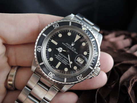 1977 Rolex SUBMARINER 1680 Matt Dial with Nice Patina and Solid Oyster Band