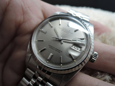 1970 Rolex DATEJUST 1603 Stainless Steel Original Grey Dial with Paper