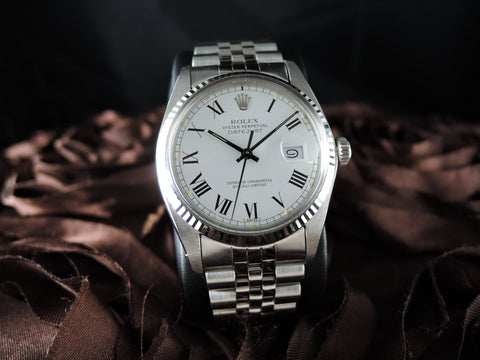 1979 Rolex DATEJUST 16014 SS Original White Buckley Dial with Paper