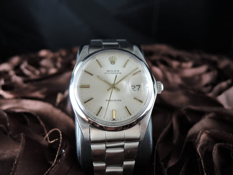 1971 Rolex OYSTER DATE 6694 Original Silver Dial with Gold Markers and Paper