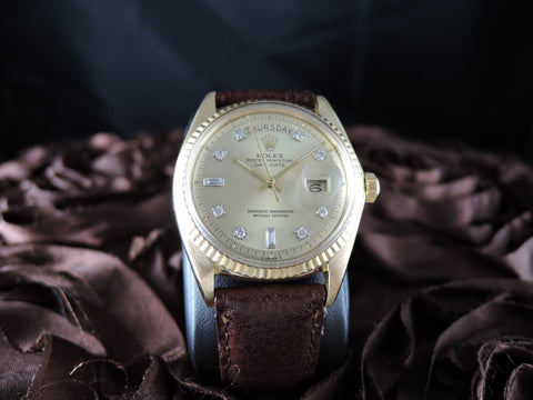 1974 Rolex DAY-DATE 1803 18K Gold with Original Champagne Diamond Dial