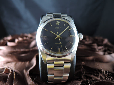 1960 Rolex OYSTER 6426 Original Matt Black Gilt Dial and Gold Markers