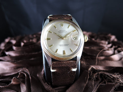1959 Rolex DATEJUST 1601 2-Tone ORIGINAL Silver Dial with Dauphine Hands