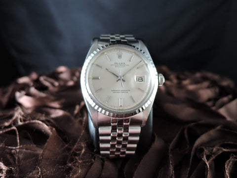 1971 Rolex DATEJUST 1603 SS ORIGINAL Silver Dial with Jubilee Band