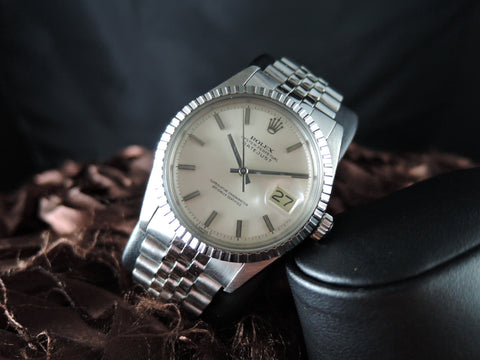 1967 Rolex DATEJUST 1603 SS ORIGINAL Silver Dial with Jubilee Band