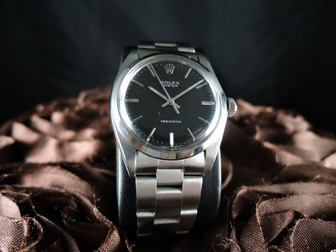 1968 Rolex OYSTER 6426 Original Matt Black Dial with Solid Band