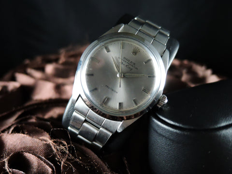 1960 Rolex AIR KING 5500 Original Light Grey Dial with Rivet Band