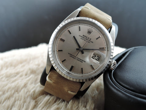 1967 Rolex DATEJUST 1603 SS with ORIGINAL Silver (No Lume) Dial
