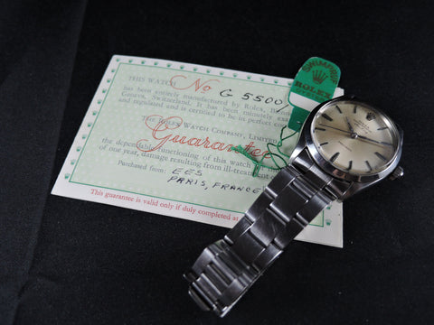 1967 Rolex AIR KING 5500 Original Silver Grey Dial with Paper and Tag
