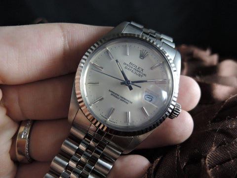 1987 Rolex DATEJUST 16014 Stainless Steel Original Silver Dial with Box & Paper
