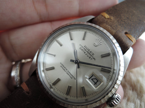 1972 Rolex DATEJUST 1603 SS with ORIGINAL Silver (No Lume) Dial