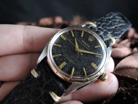 1941 Rolex OYSTER PERPETUAL 6566 Original Gilt Dial with Dauphine Hands