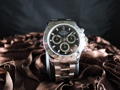 2009 Rolex DAYTONA 116520 Stainless Steel Black Dial with Box and Card