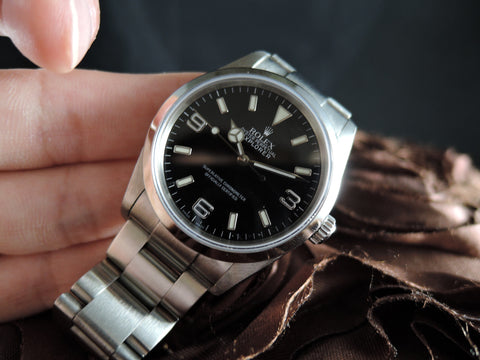2007 Rolex EXPLORER 1 114270 Black Dial with BOX and PAPER
