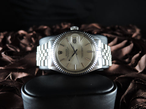 1968 Rolex DATEJUST 1601 SS ORIGINAL Silver Dial with Jubilee Band