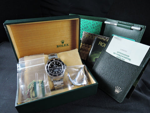 1996 Rolex SEA DWELLER 16600 T25 Dial *COMPLETE* Full Set Like New