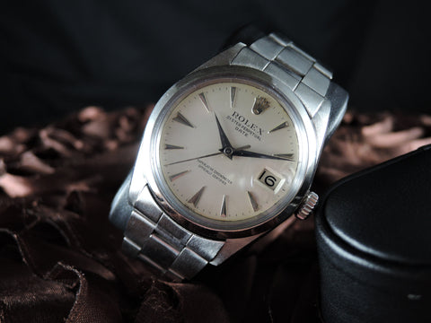 1952 Rolex OYSTER DATE 1500 Original Cream Dial with Arrowhead Markers and Dagger Hands