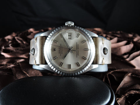 1970 Rolex DATEJUST 1603 SS ORIGINAL Silver Wide Boy Dial