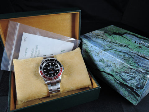 2006 Rolex GMT MASTER 2 16710 Coke Red/Black Bezel with BOX and PAPER