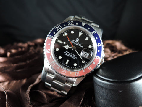 2000 Rolex GMT MASTER 2 16710 Pepsi Red/Blue Bezel P Serial SEL